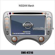 NISSAN Versa Micra марта стерео радио автомобильный DVD плеер GPS нави